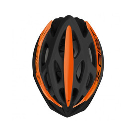 Casco Gist Faster nero opaco arancio